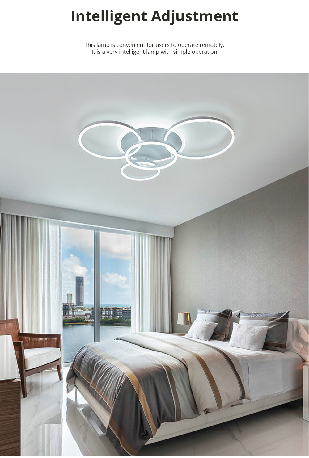 Modern Minimalist Round Led Ceiling Light Creative Nordic Led Ceiling Personalized Lighting Home Dining Room Lamp 4