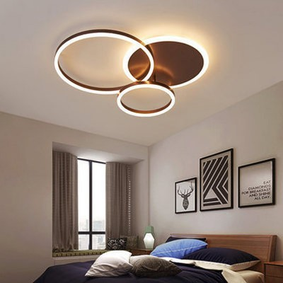 Modern Minimalist Round Led Ceiling Light Creative Nordic Led Ceiling Personalized Lighting Home Dining Room Lamp