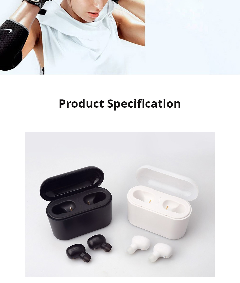 Customization Black Loomoo T8 Earphone Bluetooth Headset Charging Compartment 2200 Capacity Light Compact Sound Quality Supports Hands-free Calling Gift  7