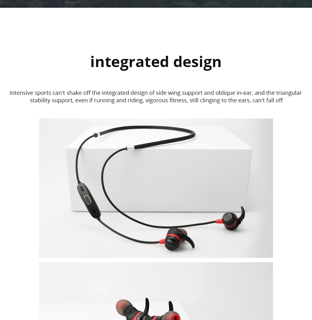 Loomoo T390BT Neck-mounted Binaural Stereo Sweat-proof Gift Custom Black Sports Bluetooth earphone 6