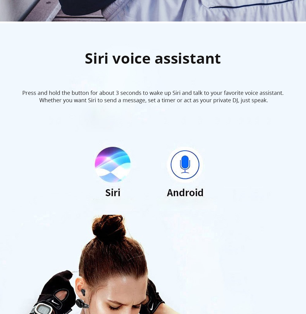 Customization Black Loomoo T8 Earphone Bluetooth Headset Charging Compartment 2200 Capacity Light Compact Sound Quality Supports Hands-free Calling Gift  6