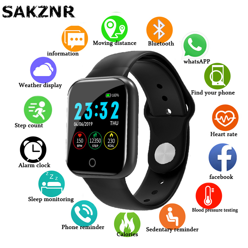 I5 Smart Watch Women Men Fashion Smartwatch For Android IOS Smart-watch Electronics Fitness Tracker Heart Rate Monitor Sleep Monitoring Vibrating Reminder Silicone Strap