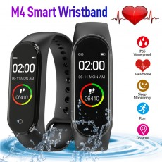 M4 Smart Watch Men Women Sports Waterproof Watches Heart Rate Monitor Blood Pressure Function Wristband Smartwatch For Android IOS Phones