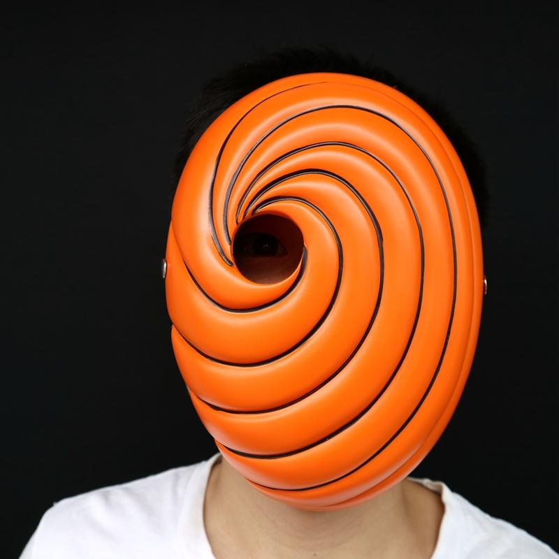 Resin Anime Naruto Cosplay Mask Uchiha Obito Cosplay Mask Akatsuki Costume Mask