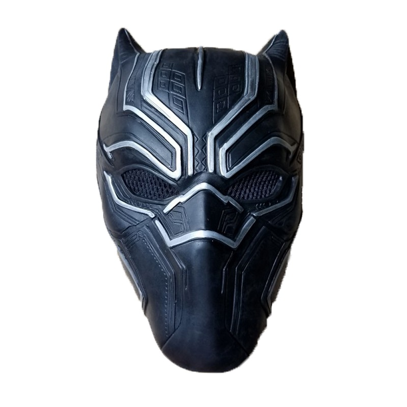 Black panther latex mask superhero cosplay stage props 0