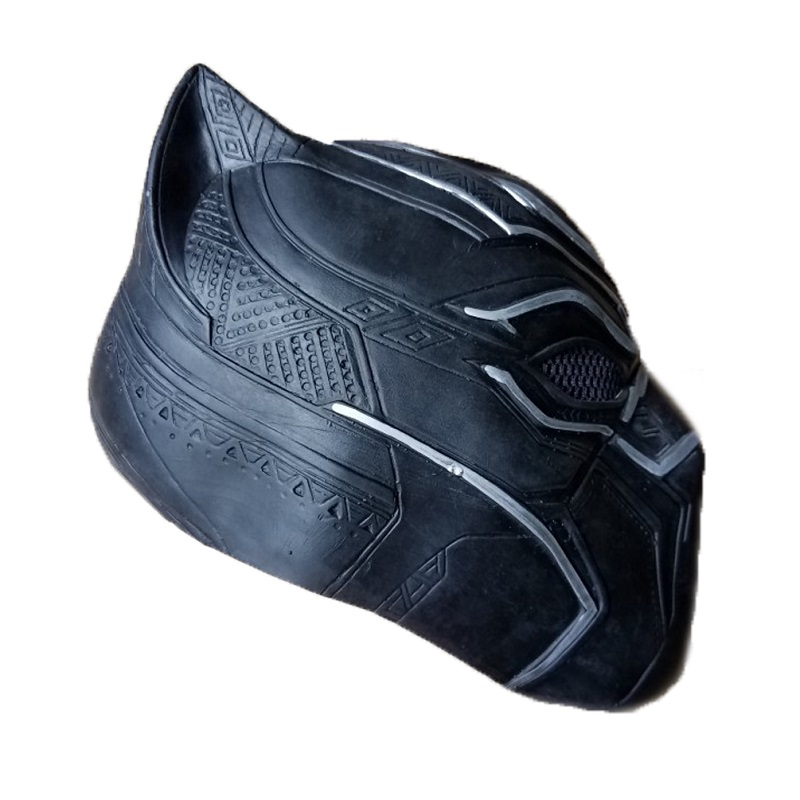 Black panther latex mask superhero cosplay stage props 2