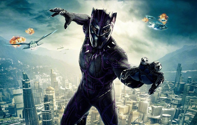Black panther latex mask superhero cosplay stage props 3