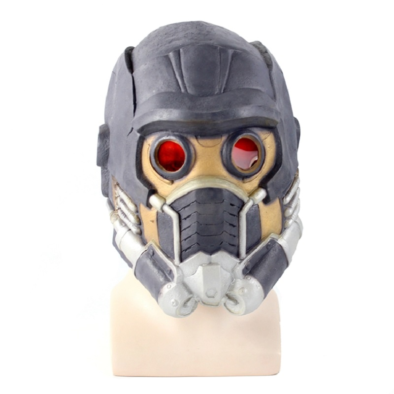 Newest Guardians Star Cosplay Lord Mask Lifesize Latex Helmet 0