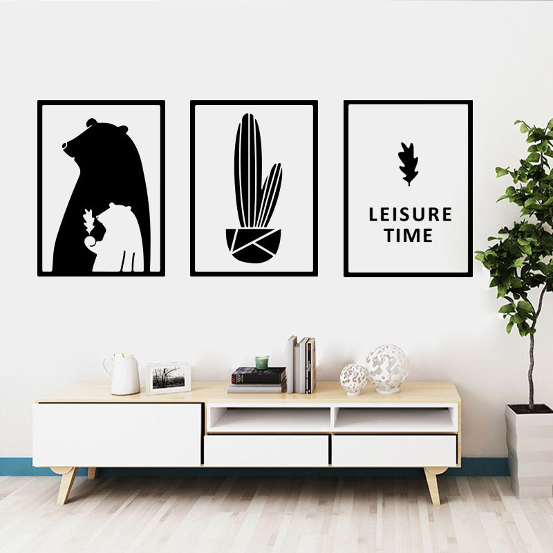 Modern Minimalist Art Wallpaper Self-adhesive Living Room Decoration Wallpaper Youth Bedroom Wall Stickers 2