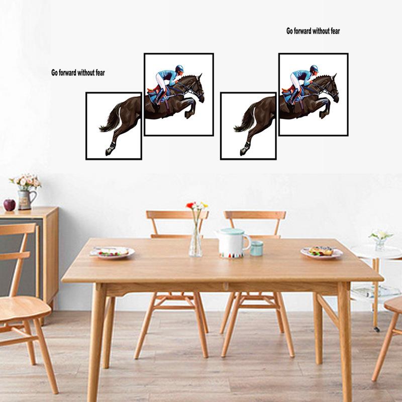 Modern Style Horseman Art Wall Stickers Bedroom Furniture Creative Decoration Self-adhesive 3