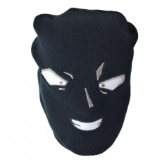 Detective Conan Weird Black Man Hooded Funny Mask Knitted Wool Hat