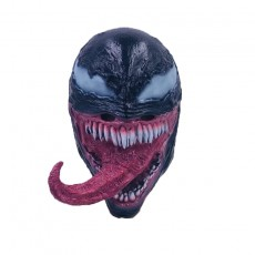 Universe Deluxe Venom Spiderman Latex Mask Halloween Costume Film Cosplay Black