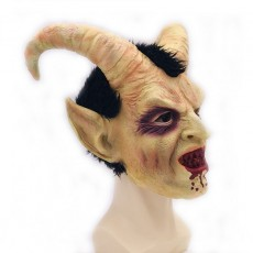 Scary Mask Demon Devil Lucifer Horn Mask Halloween Cosplay Festival Party Props