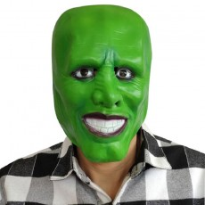 MovieThe Mask Jim Carrey Latex Masks for Cosplay Party Green