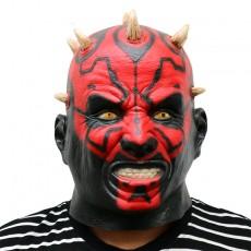 Darth Maul Deluxe Adult Overhead Latex Mask Halloween Custom Horror Accessories