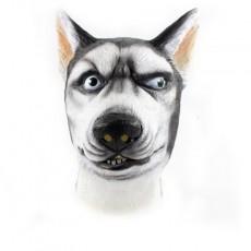Comic Siberian Husky Dog Novelty 3D Latex Animal Mask