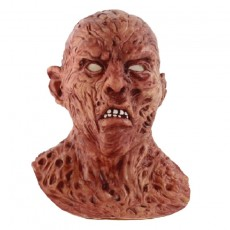 Halloween Creepy Latex Mask Horror Scary Monster Deluxe Evil Devil Latex Mask for Adults Brown