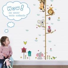 Cute Animal Height Measurement Sticker Baby Room Decoration