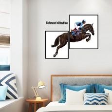 Modern Style Horseman Art Wall Stickers Bedroom Furniture Creative Decoration Self-adhesive