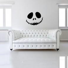 Halloween Cute smiling skull Art Wall Sticker Festive Atmosphere Decoration Waterproof Self-adhesive