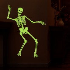 Halloween DIY Decorations Skull Ghost Luminous Glow-in-The-Dark Skeleton for Halloween Party Bar Wall Sticker Yard Garden Haunted House Yard Outdoor Hanging Decorations Props