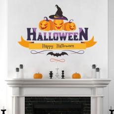2020 Halloween Wall Pumpkin Decoration Sticker Cute Window Sticker