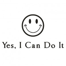 Inspirational Quote I Can Do It Smile Wall Stickers Study Decoration Wallpaper