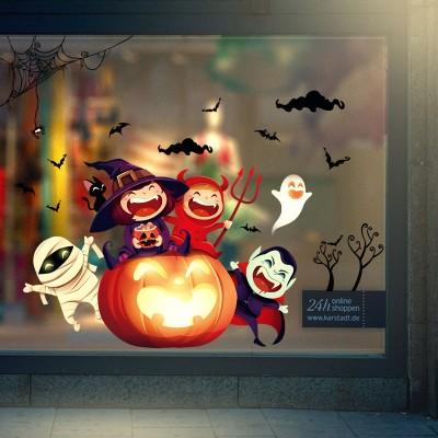 Cute Halloween Wall Stickers Window Festival Decoration DIY Free Paste Stickers