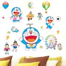 Doraemon Waterproof Stickers Decals Japanese Anime Cartoon for Children Roon Decoration