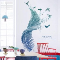 Wall Sticker For Bedroom, Feather Wall Sticker Wall Decor For Kids Room Living Room 124cm × 72cm Wall Sticker | Kitchen Corridor Window Cupboard Wall Decal
