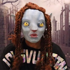 Avatar Deluxe Overhead Adult Jake Sully Latex Mask Halloween Costume Film Role Cosplay Props
