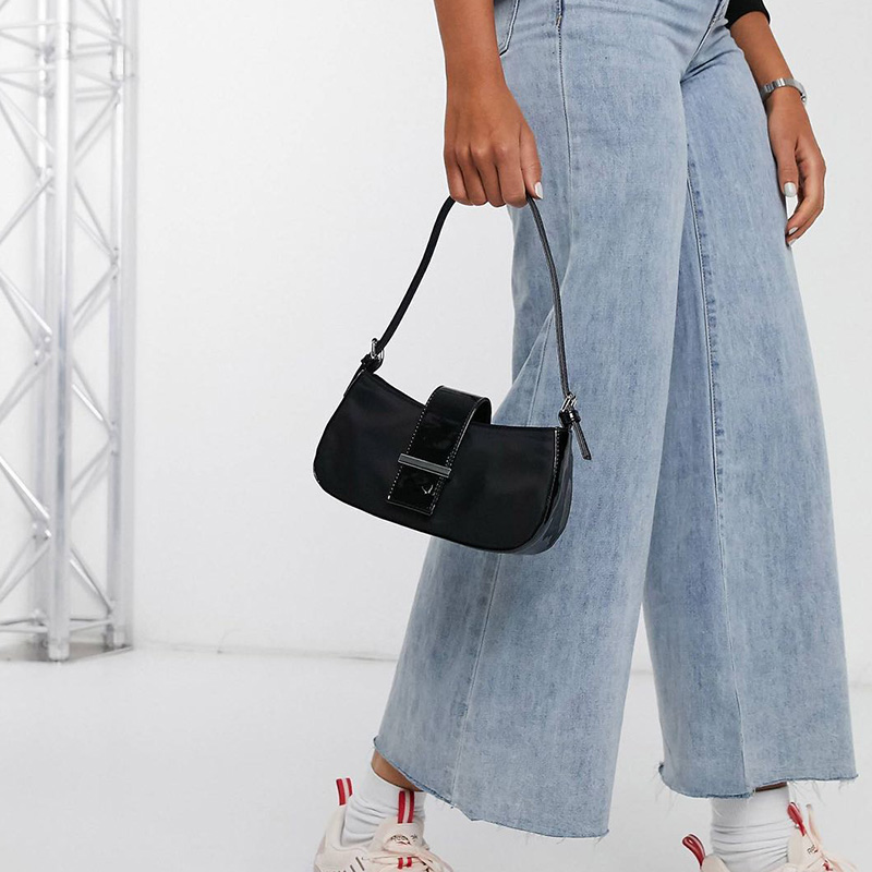 2020 summer new baguette bag transparent PVC shoulder bag INS super fire European and American trend armpit bag portable small bag 5
