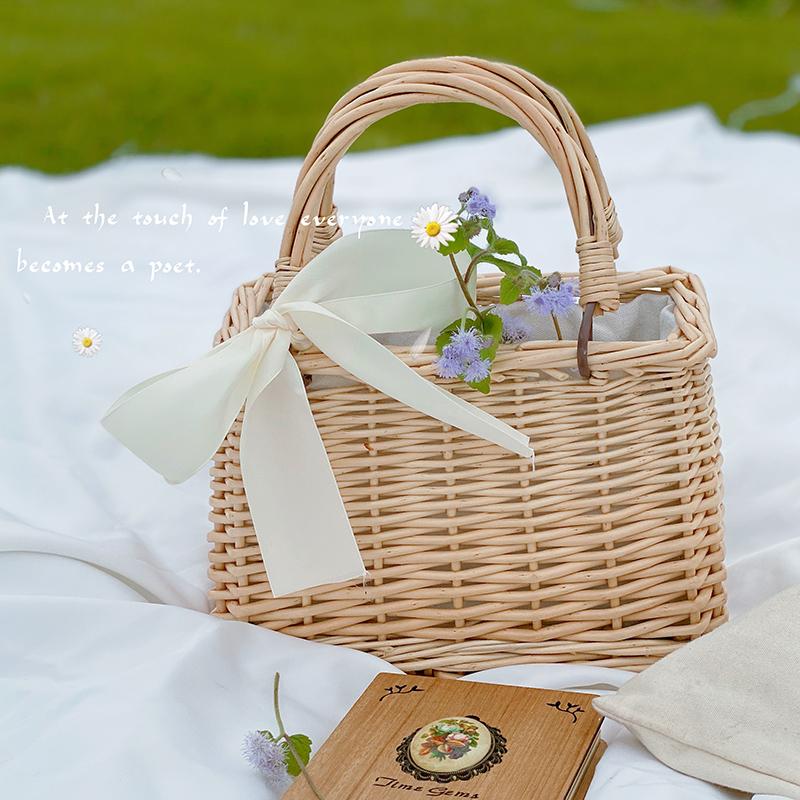 Hand-woven bamboo basket 0