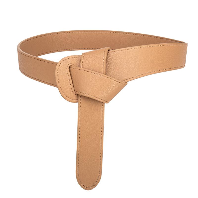 Women's decorative windbreaker belt female knotted belt 2