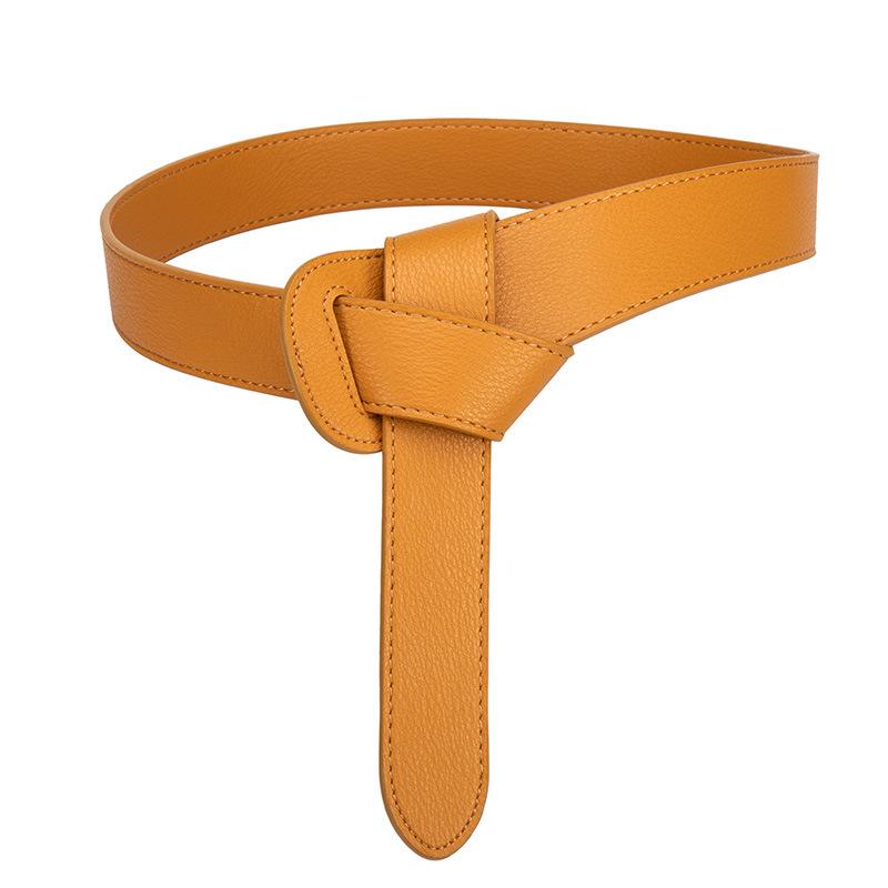 Women's decorative windbreaker belt female knotted belt 3