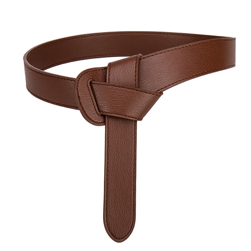 Women's decorative windbreaker belt female knotted belt 4