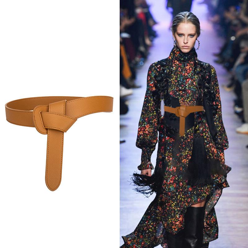 Women's decorative windbreaker belt female knotted belt 0