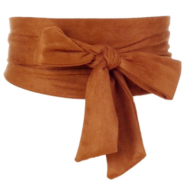 All-match lace-up waistband wide belt girdle 1
