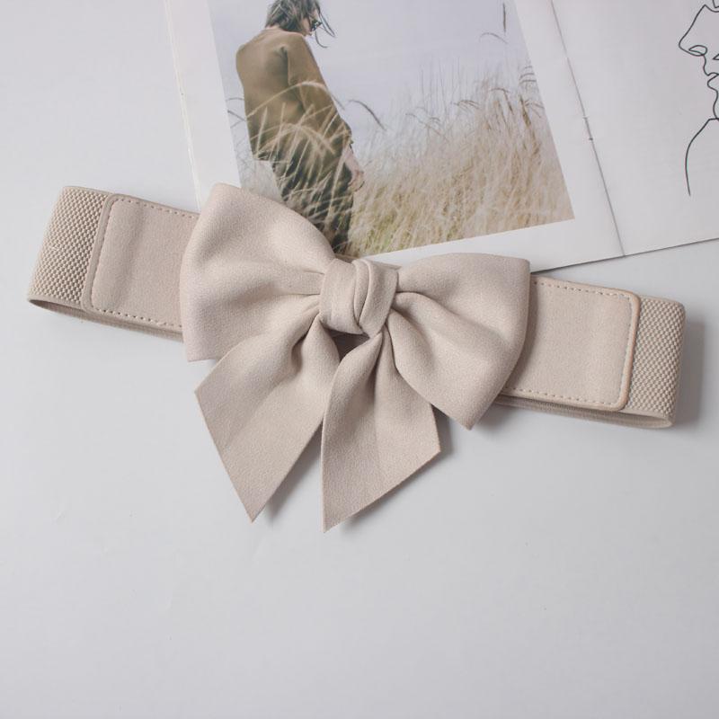 Sweet elastic elastic flannel three-dimensional bow tie waist belt 2