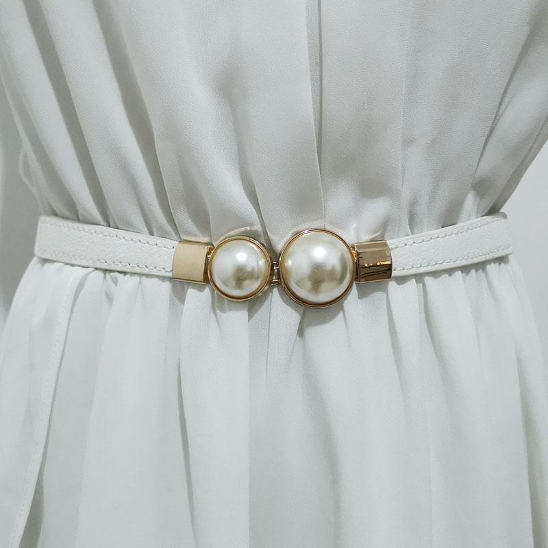 Skirt women belt pearl shirt decoration 0