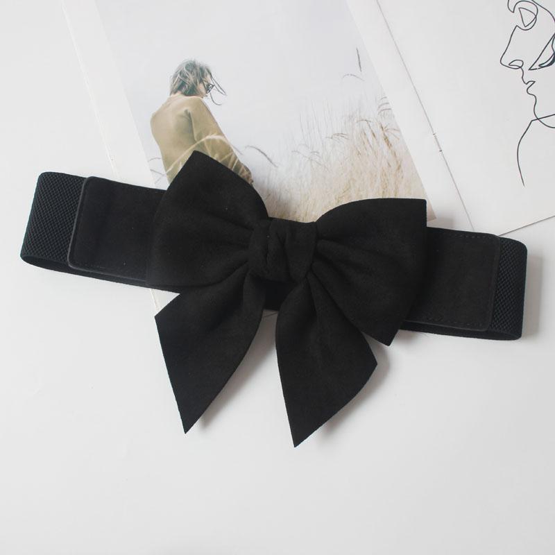 Sweet elastic elastic flannel three-dimensional bow tie waist belt 0