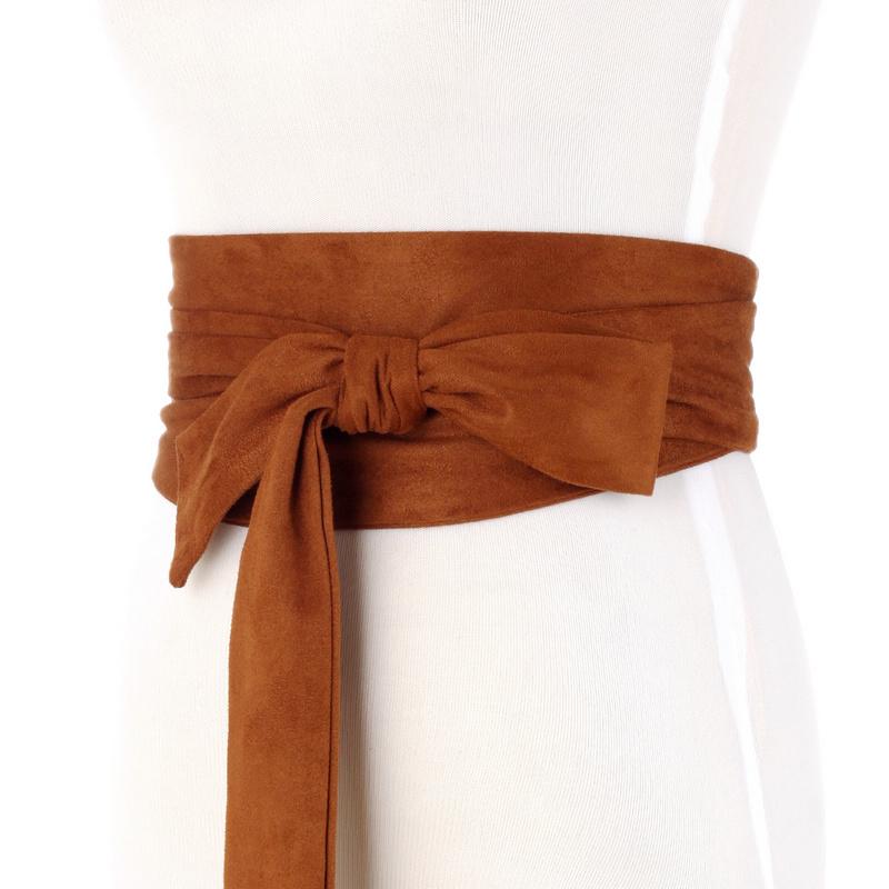 All-match lace-up waistband wide belt girdle 2