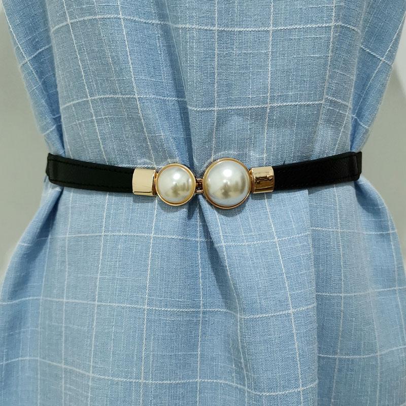 Skirt women belt pearl shirt decoration 3