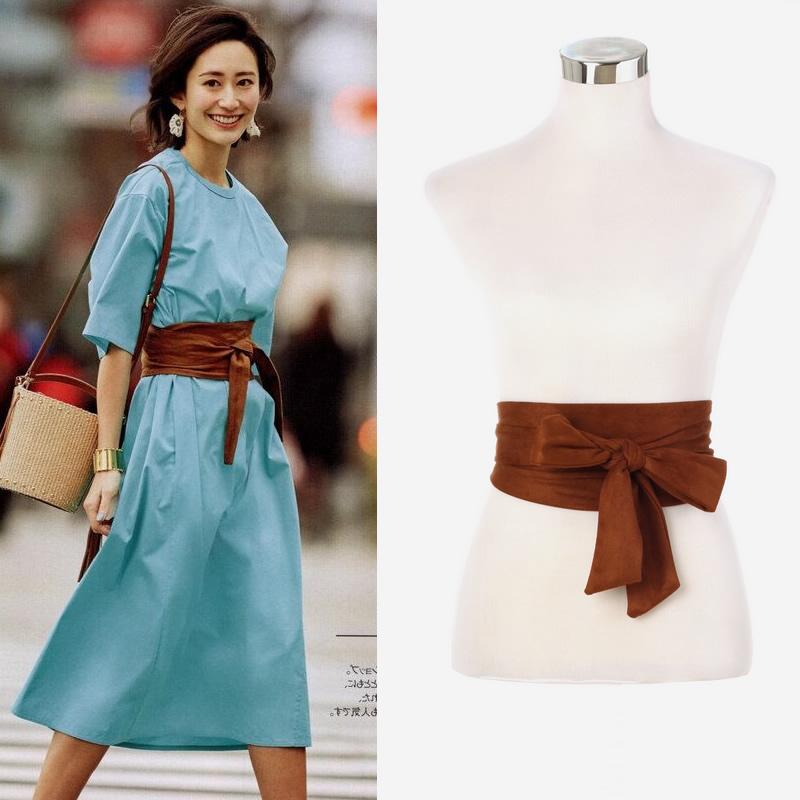 All-match lace-up waistband wide belt girdle 0