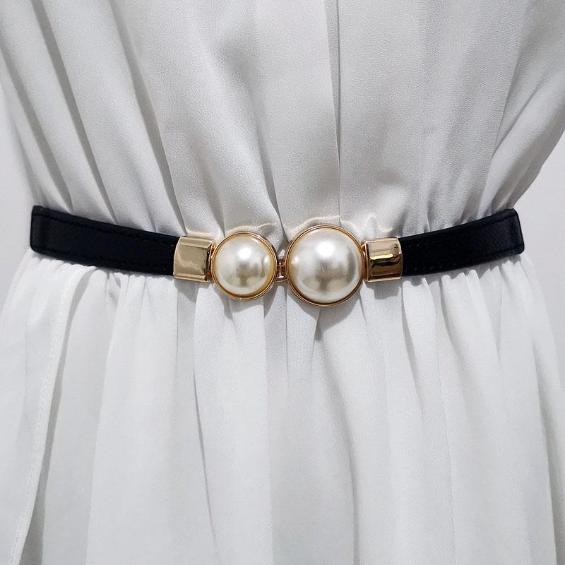 Skirt women belt pearl shirt decoration 1