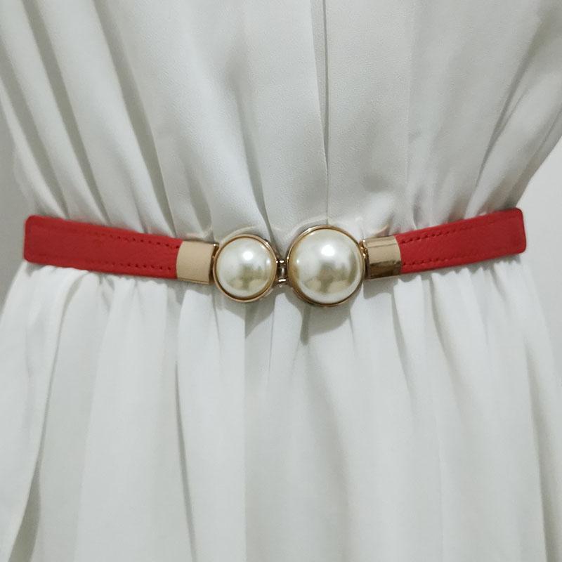 Skirt women belt pearl shirt decoration 2