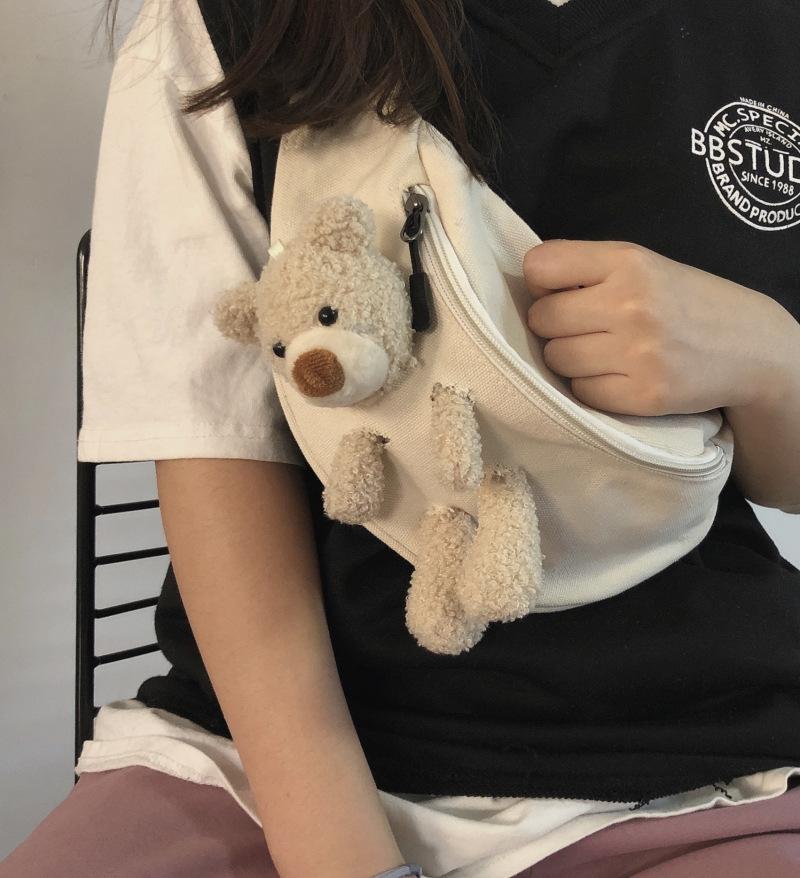 Vintage sense girl bear chest bag female 1
