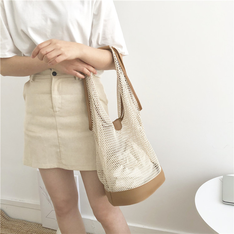 Casual shoulder temperament summer portable net bag 1