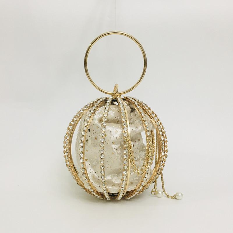 Hollow Diamond Ball Bag Evening Bag 1