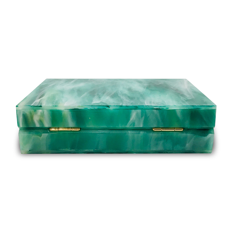 Emerald Green Acrylic Small Square Box 2